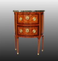 Commode demi lune estampillee Griffet