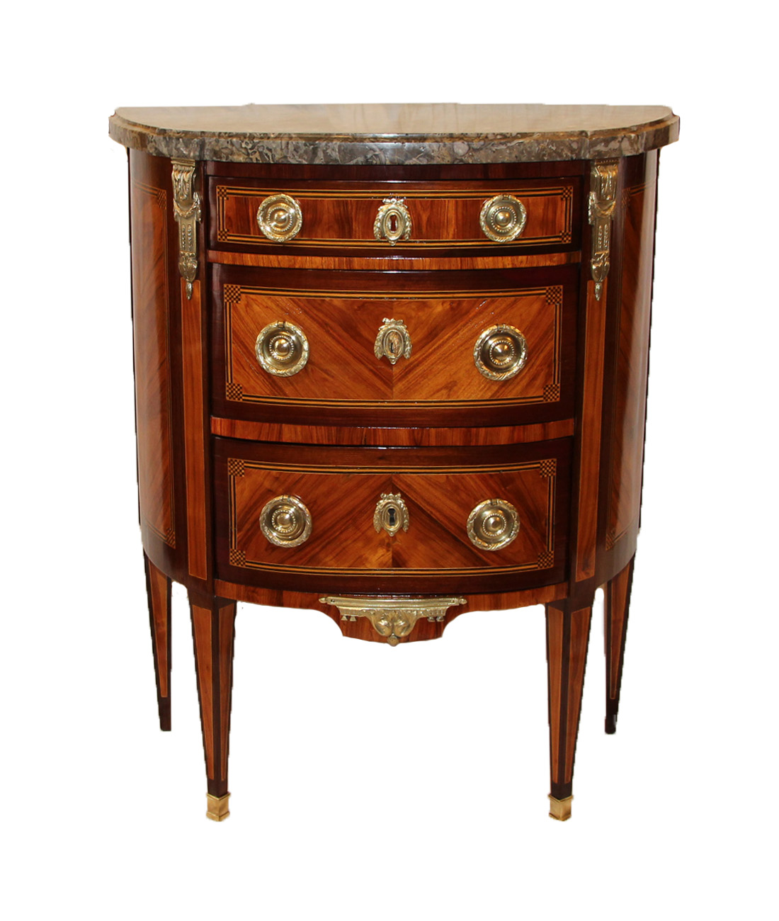 Commode demi lune d epoque Louis XVI