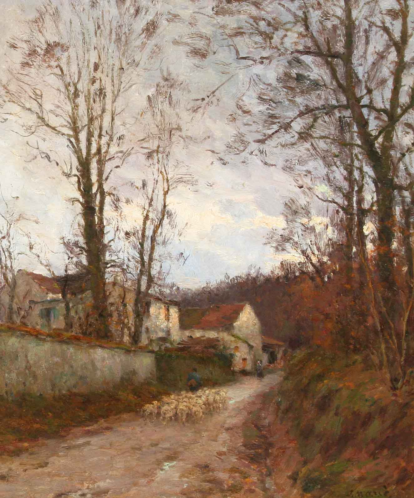 "All�e Corot � Luzancy ""Berger et moutons"""