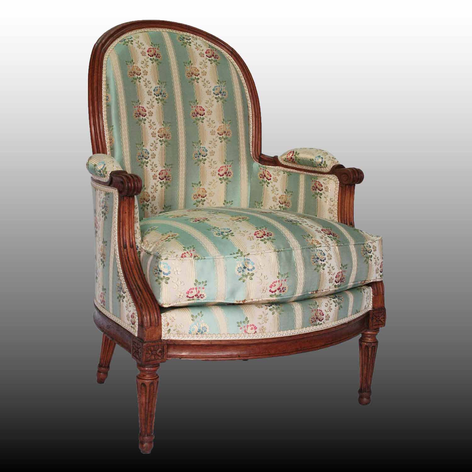 Berg�re d��poque Louis XVI estampill�e DUPAIN